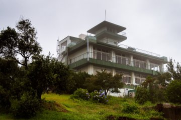 The Olive Palace stands tall on the top of the hill, with the tower providing the best views in the Ushimado area.