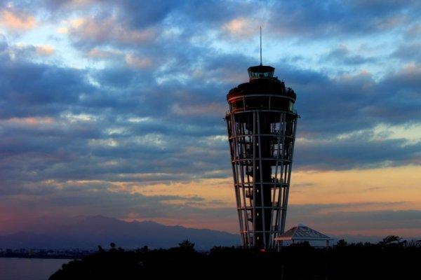 江之岛登塔远眺
