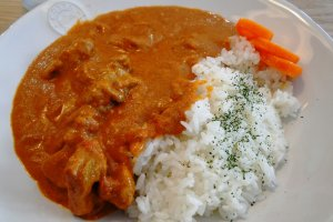 Butter chicken curry lunch