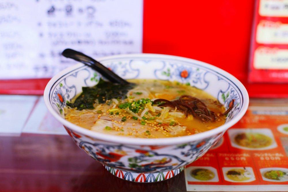 My delicious bowl of agodashi ramen
