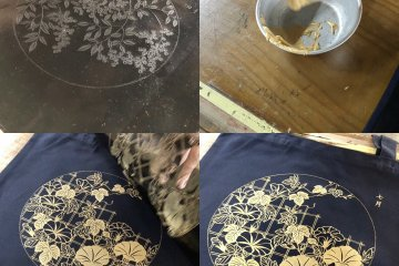 The making of a printed tote bag