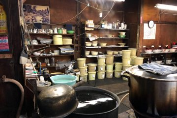 Tubs upon tubs of painstakingly made dyes