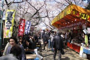 Весенний фестиваль в парке Уэно, начало апреля