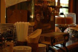 Alishan's coffee machine. Alishan will be serving organic coffee at the event.