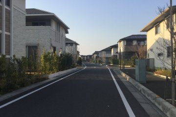 The modern Koshigaya neighborhood around Former Nakamura Residence