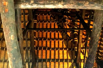 The intricately constructed rafters