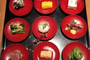 The appetizer course at Soumon Kyoraiso