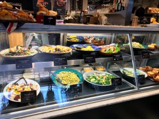 There are various tasty salads on offer