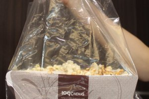 Popcorn is boxed and bagged so you won't drop a single kernal of buttery goodness.