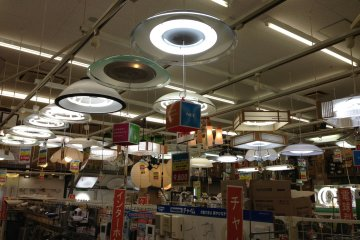 A respectable selection of lights and lighting accesories