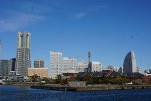Yokohama iconic landscape as seen from the Osanbashi Terminal