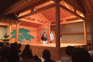 The stage of a typical Noh theatre