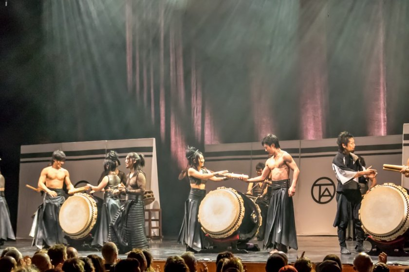 Exhilarating taiko drumming