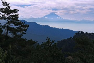 Mount Fuji in the distance