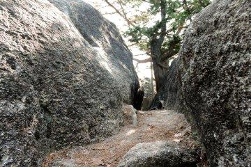 Passage through the rock