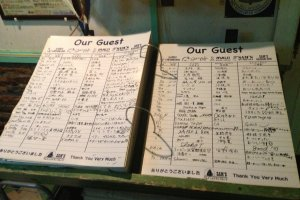 Sign the guest book when you leave and let Sam's know how you enjoyed your meal