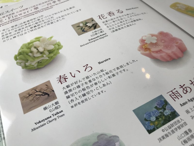 Some of the other seasonal wagashi that were available