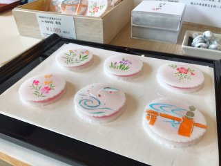 Interesting senbei available for purchase to take home with you