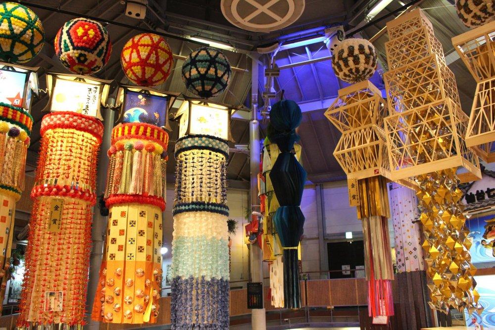 Gorgeous Tanabata decorations on display
