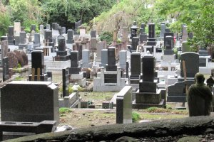 Japanese cemeteries are neat and clean