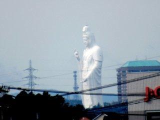 A massive Daikannon statue