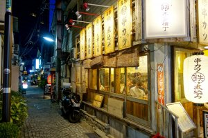 One of Kagurazaka's many local eateries