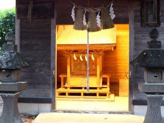 The illuminated shrine looks more mysterious