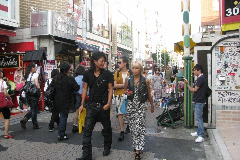 Fashionable young people on Takeshita Dori