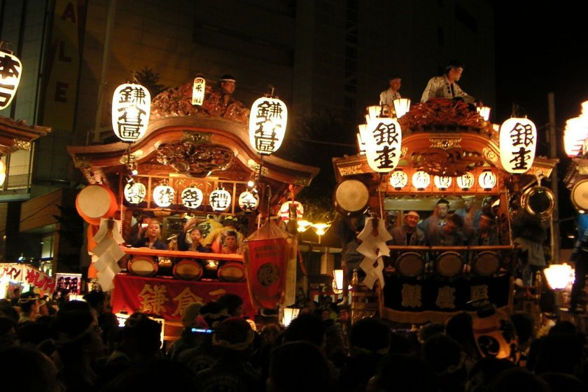 Kumagaya\'s Uchiwa Matsuri outdoes them all with its spectacular parade floats