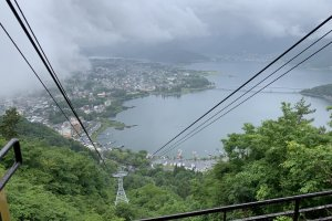 View of Lake Kawaguchi from the top of the ropeway