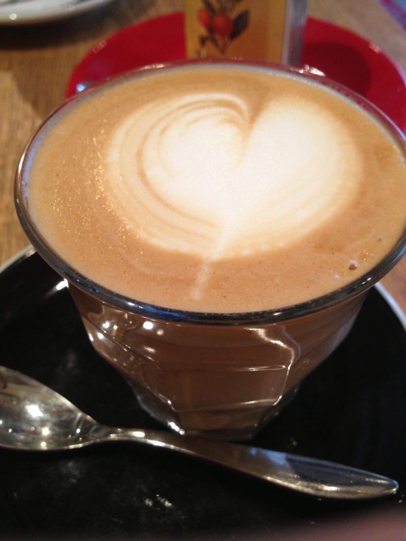 Simple café latte