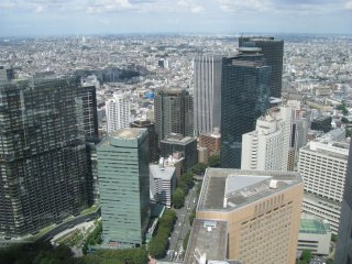 Shinjuku as seen from the Tokyo Metropolitan Government Building