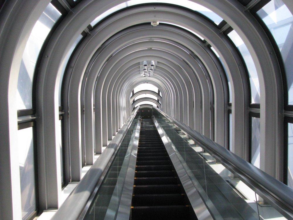 Umeda Sky Building's escalator