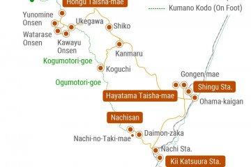 Kumano Kotsu bus map