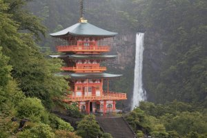 Nachi Waterfall with three-storied pagoda