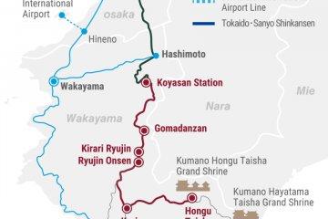Wakayama transportation map