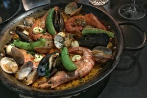 """El Classico"" Shrimp, Clam, Mussel, and Saffron Paella"