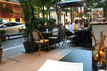 Outdoor seating is perfect for warmer evenings