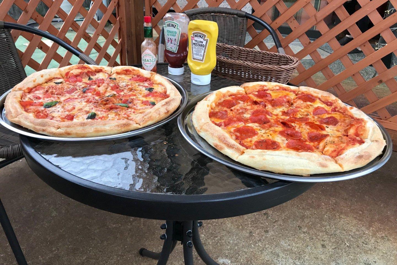 Delicious American-style pizzas