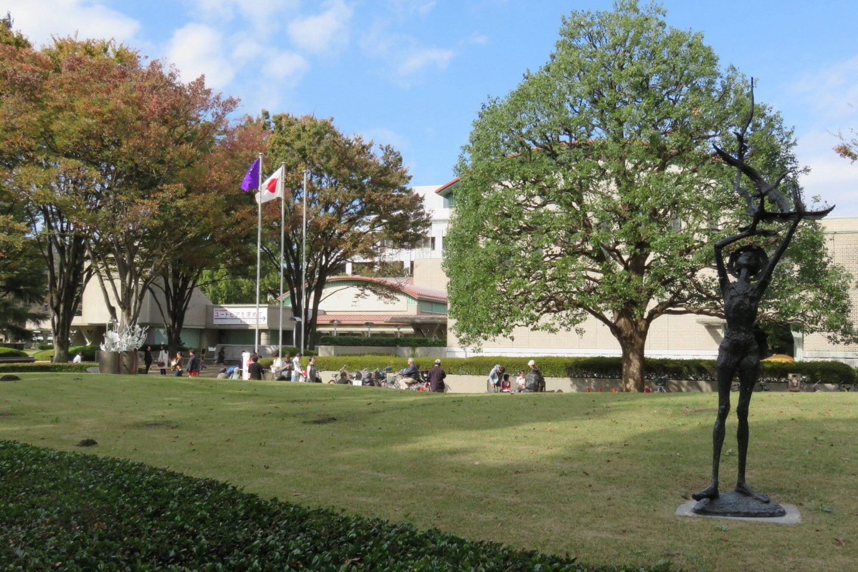 The beautiful grounds of the Setagaya Art Museum