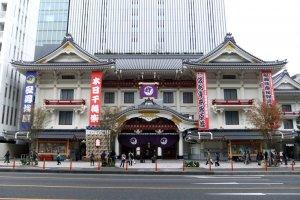 Kabukiza, an historic monument to kabuki theatre in Ginza