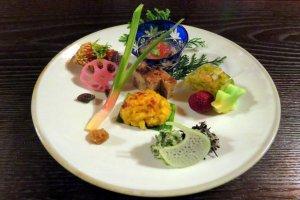 Splendid vegan dish at Bon