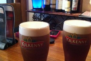 Cool, smooth Kilkenny Irish cream ale