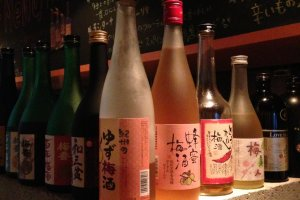 About twenty varieties of plum wine