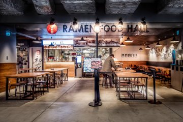 Located on the first floor is a food hall where you can find many 'Ramen' (noodle), restaurants