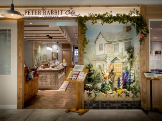 A 'Peter Rabbit' themed cafe. Despite originating from the UK, Japan's love of this character easily transcends its popularity back home
