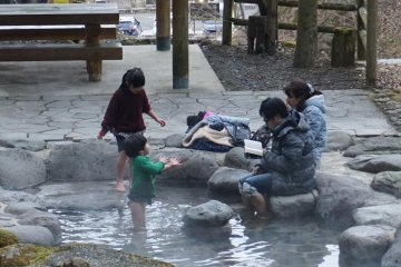One of the town's ashi-yu foot baths