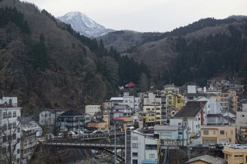 A captivating onsen town atmosphere