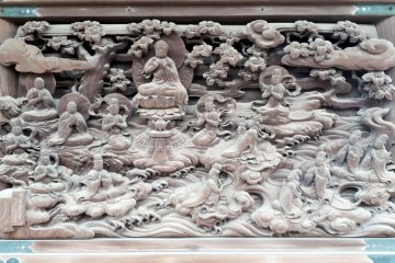 "Panel titled: ""Attainment of Buddhahood by the Daughter of a Dragon-king"""