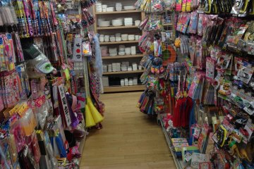 <p>The toy aisle is packed with goodies for just 100 yen each</p>